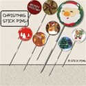 Christmas Stick Pins