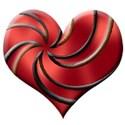 spiral heart red12