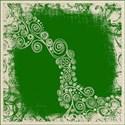leaf green n beige emb
