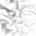 crumpled paper white