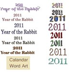 New Year word Art