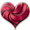 spiral heart pink121