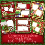 Christmas Cookies Premade Pages