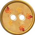 fall leaf button