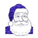 santa claus blue