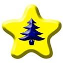 yellow star blue tree