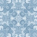 china blue damask paper