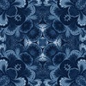 deep blue damask emb