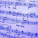 blue sheet music emb