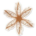 Orange Flower Sticker copy