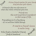 Friendship sayings & quotes - free for 2 weeks