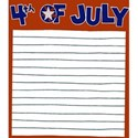 4TH OF JULY  NOTE CARD