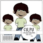 Boy Clip-Art  Black Hair 2