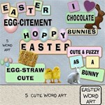 Easter Word Art #1