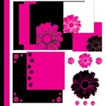 Pink and Black Theme with Flowers