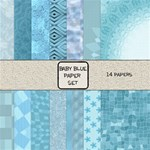 Baby Blue Paper Set