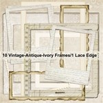 Vintage Antique Ivory Frames & Lace edge