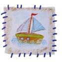 blue sail boat