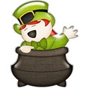 leprechaun in pot sticker