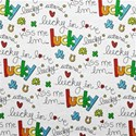 Paper Lucky Pattern White