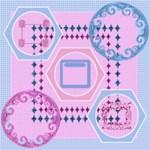 Blue & Pink frames