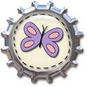 bottle cap butterfly