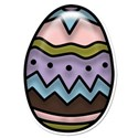 Easter Egg Puffy Sticker
