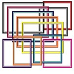 Colorful Matted Frames - Squares & Rectangles