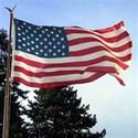 American flying-flag background