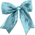 light blue bow