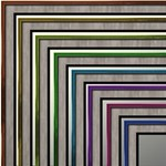Double matted Painted Wooden Frames Series 1