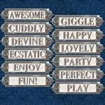 Metal Word Plates #4