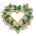 heart cluster gold