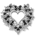 heart cluster silver