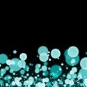 Cyan Confetti Background
