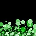 Green Confetti Background