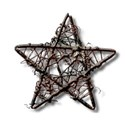 Christmas star iron