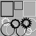 Black & White Basic Frames