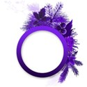 circle purple emb
