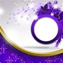 circle card purple background