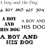 A boy and his dog title