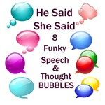 He Said She Said Speech & Thought Bubbles