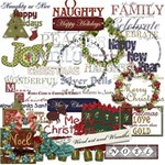 Holiday Word Art and Wreaths