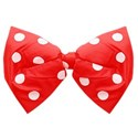 red and white bow