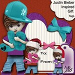 Justin Bieber Inspired Tags Stickers Cards