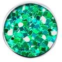 brad glitter green