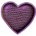 purple leather heart