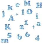 Blue Alphabets