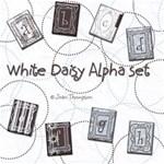 White Daisy Alpha Set