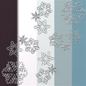 Palette with Snowflakes